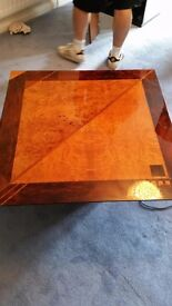 coffee table with glass miniform oscar 1974 antique