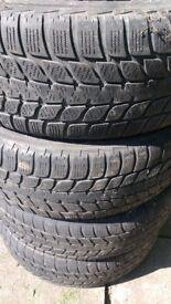 4 Blizzak tyres. 205 65 15