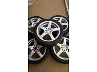 BK Racing 116 Alloy Wheels! Suitable for Vauxhall Astra, Corsa, Honda, Peugeot, Toyota, Renault
