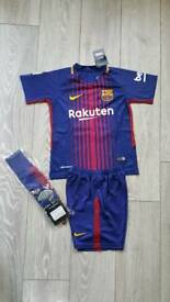 2018 BARCELONA home kit 11-13 years kids