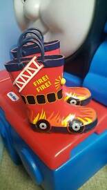 Fire engine wellies