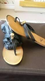 Skull Sandals UK 7