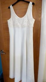 ladies cream wedding/evening dress