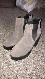 Grey boots size 7