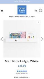 White star book ledge shelf