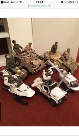 Armed Forces vechicle bundle with figures