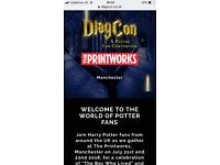 Sold out tickets Diagcon Harry Potter event Printworks Manchester