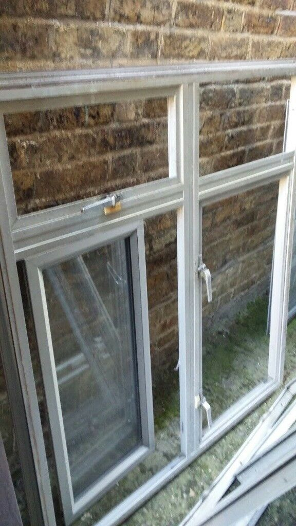 Silver double glazed aluminium windows - can deliver