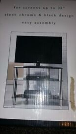 TV stand chrome - ( UK sale only )