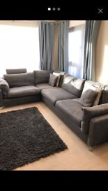 Right hand grey corner sofa £750 - can be delivered within 10 mile radius.