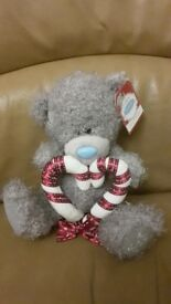 Brand new with tags Tatty teddy me to you bear holding candy cane heart