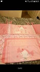 Pink cot bedding
