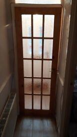 Internal windowed door