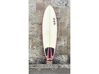 SHIPPING, Reaper Fish Surfboard 6'2, thruster, twin fin, SET, 38L, Fun Board, leash, fins