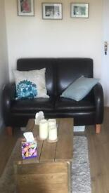 Brown leather sofa's and chairs