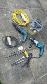 110v drills, drill bits transfomer and lead