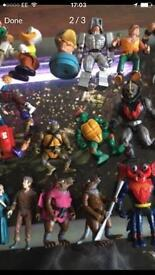 He man and various figures