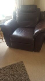 Armchair Leather Recliner £100