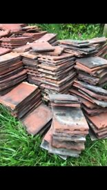 Roof tiles clay approx 1300 tiles