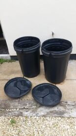 2 big black bins