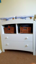 Chest of drawers nursery with changinf table top