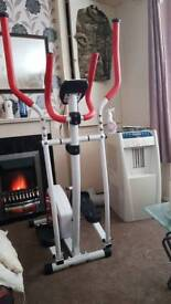 wer manual sports cross trainer red and white