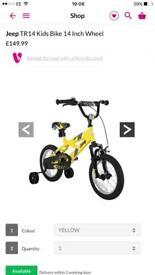 Kids jeep bicycle brand new