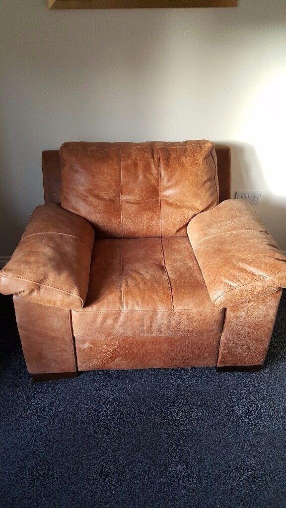 Beautiful leather armchair