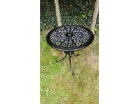 Vintage black cast garden table