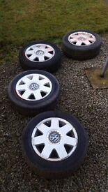 VW POLO Alloy Wheels X4 with Two Tyres - For Sale