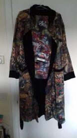 Mens medium Marvel night robe + new Avengers pajama bottoms