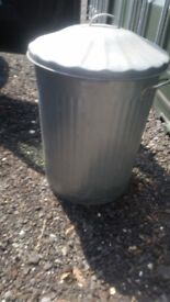 New Galvanized dustbin about 2 years old