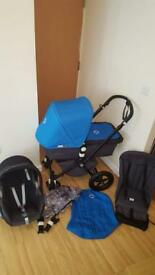 BUGABOO CAMELEON BLUE WITH CAR SEAT