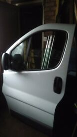 Vauxhall vivaro passenger side door in white