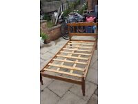 free single wooden bed base