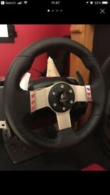 Logitech G27 steering wheel for PC and PS3