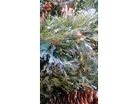 Tesco 6.5ft Christmas Tree with Cone & Glitter
