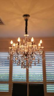 2 x 12 Light Egyptian Crystal Chandelier in Chrome Harrington Park Camden Area Preview