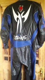 Motorbike suit.