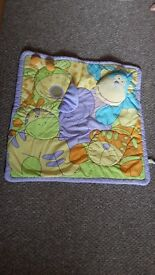 Colourful baby playmat