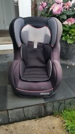 Baby car seat age 0-3years. Pampero confiseat. Not isofix. Can tilt. Reasonable condition. Clean.