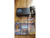 Playstation 2 console with games