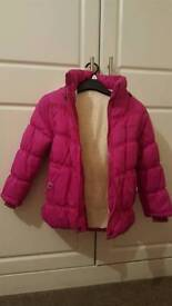 Girls pink winter fleece lined jacket-age fit 5-6 years