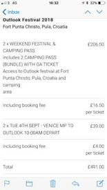 Outlook Festival Tickets + Camping Pass + Boat Party Tickets