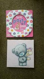 Potty training book and canvas