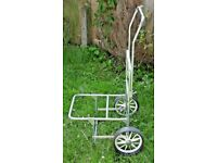 LARGE ALUMINIUM ALLOY TRAVEL CARP TROLLEY BARROW WIDE WHEEL COMPACT TRANSPORT.**