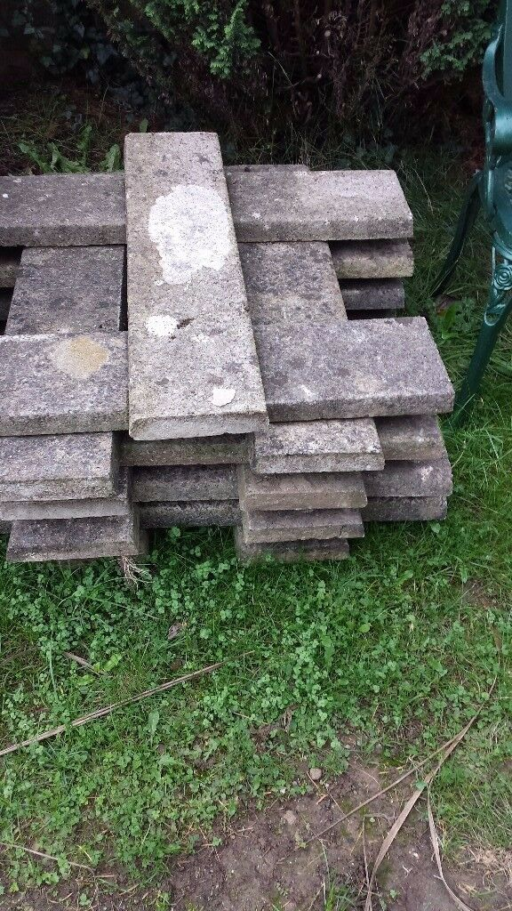 Concrete grey coping stones- used