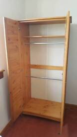 Pine wardrobe for sale. As new £45 ono