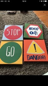 Kids next canvases