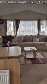 *LUXURY* 3 BED CARAVAN AT *SETON SANDS* ON THE EAST COAST OF SCOTLAND NEAR EDINBURGH SLEEPS 6